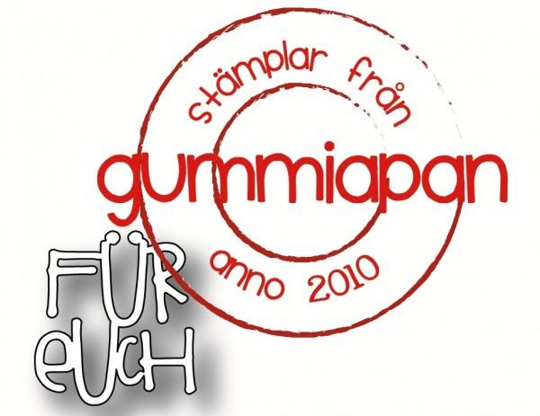 Gummiapan Stanzform ' Für Euch ' D190308