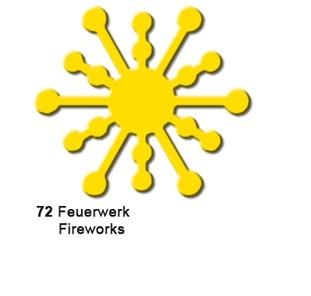 Motivstanzer Groß Feuerwerk ( gelb ) UR 1949 00 72