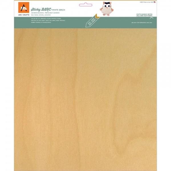 """ARC Crafts Holzpapier mit Kleberückseite BIRKE 12 """" x 12 """" ARCBS23"""
