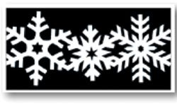 Martha Stewart Borderstanzer BREIT Snowflake 42-70016