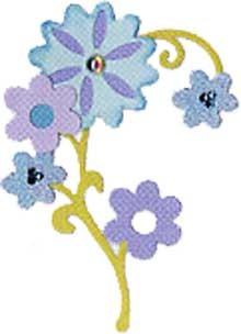 Sizzix Stanzform BIGZ Wildblume / flowers wild 655464