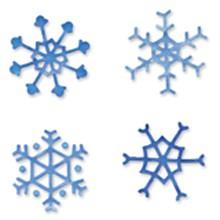 Sizzix Stanzform Sizzlits SMALL 4-er Set Sizzlits Schneeflocken # 2 / snowflakes # 2 655196