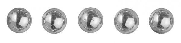 Plastik-Halbperlen selbstklebend 5 mm SILBER 15-118-22