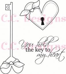 C.C.Designs Stempel-Set Schlüssel u. Schlüsselloch/Swiss Pixie K