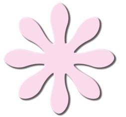 Motivstanzer Jumbo Gänseblümchen ( rosa ) UR 1946 00 11