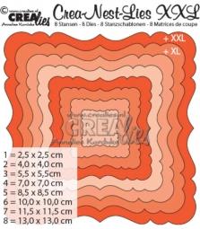 Crealies Stanzform Crea-Nest-Lies Set Quadrat Nr. 2 XXL/CLNest02