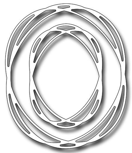 Frantic Stampers Stanzform Oval Tangled Frames FRA-DIE-10289