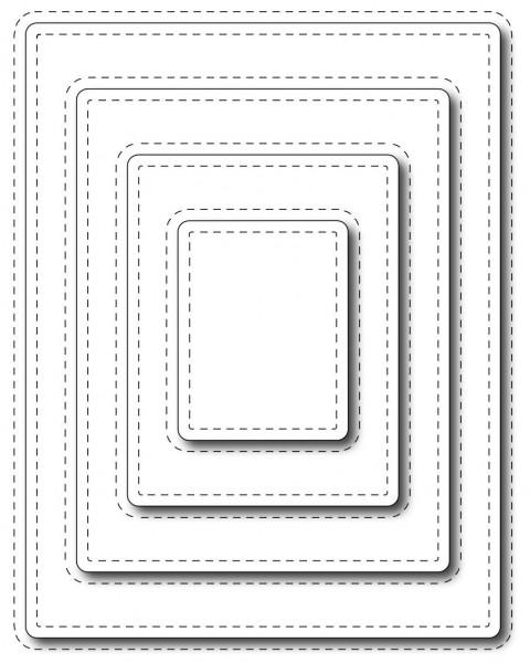 Frantic Stamper Stanzform Rechtecke Nähnaht / Stitched Rectangles FRA-DIE-09640