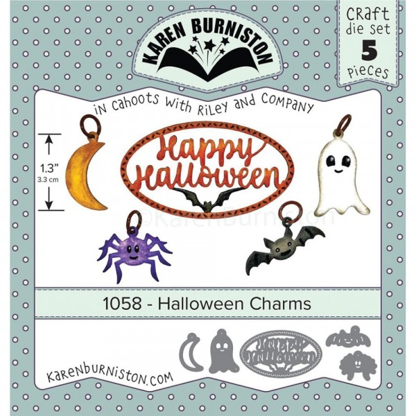Karen Burniston Stanzform Halloween-Charms 1058