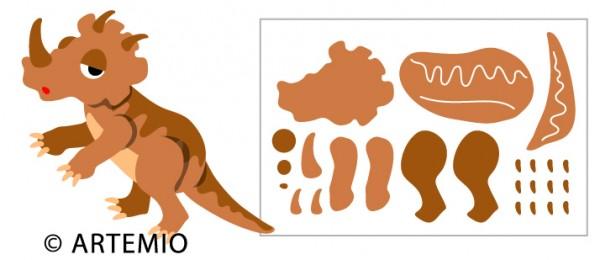 Artemio Happycut Stanzformen 6,8 x 11 cm Triceratops 18023006