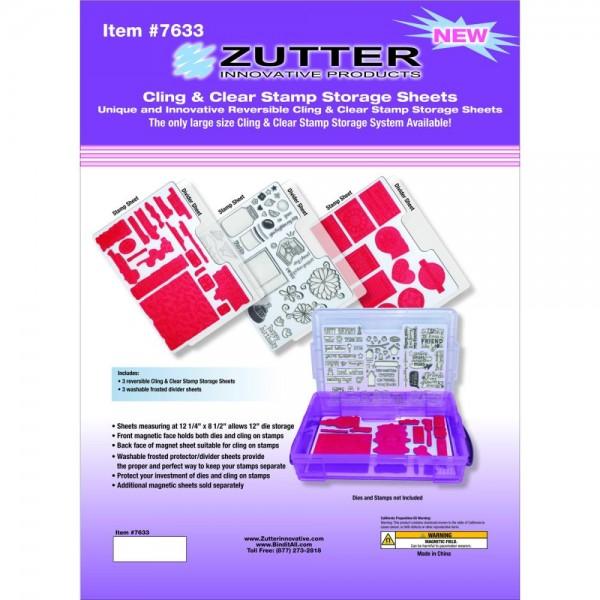 Zutter Aufbewahrungsblätter Cling & Clear Stamp Sheets 7633