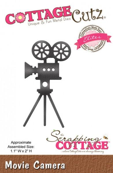 CottageCutz Stanzform Filmkamera auf Stativ CCE-383
