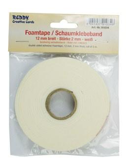 Reddy Cards Schaumklebeband weiss 12 mm breit u. 2 mm dick 91034