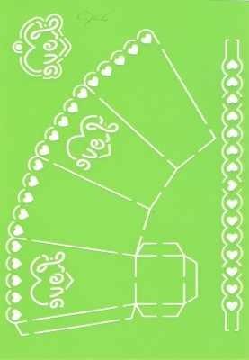 Joy!Crafts Prägeschablone Plastik Geschenkbox LOVE 6002/0706 ( hellgrün )