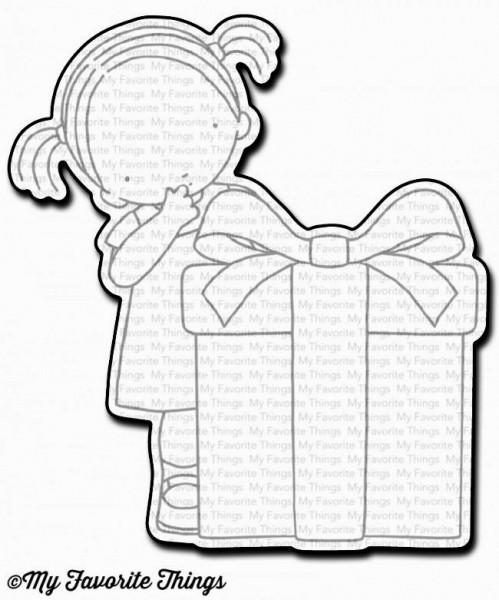 Dienamics Stanzform Mädchen mit Geschenk / Happy Birthday to You MFT-1148