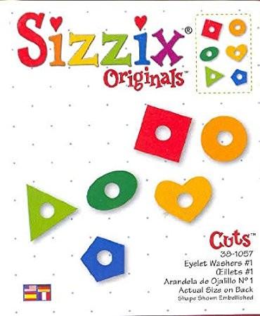 Sizzix Stanzform Originals LARGE Ösen-Unterleger # 1 /Eyelet Washer # 1 38-1057