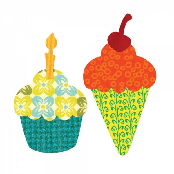 Sizzix Stanzform BIGZ L Cupcake & Ice Cream Cone 657884