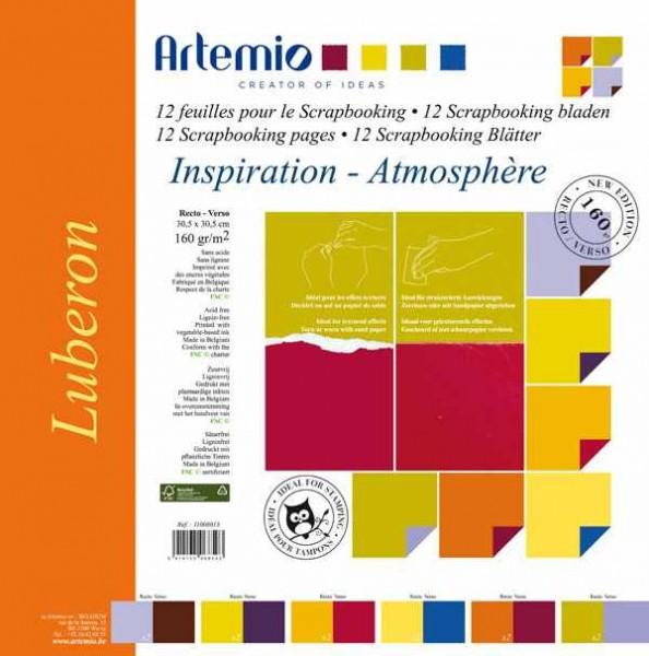 Papier-Set zwei-farbig 30,5 x 30,5 cm Luberon 11008013 ( 12 Blat