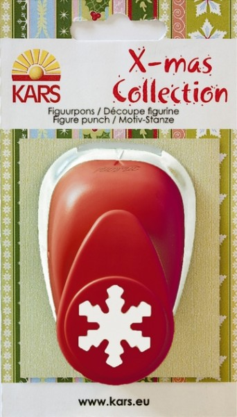 Motivstanzer X-mas Collection Schneeflocke ( rot )