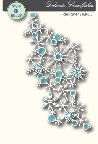 Memory Box Stencil Schneeflocken / Delicate Snowflakes 88529