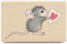 Stempel Maus mit Herz HMER1004
