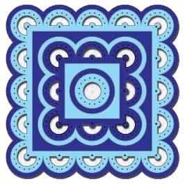 Nellie Stanz- u. Prägeformen Multi Square Stitching MFD033