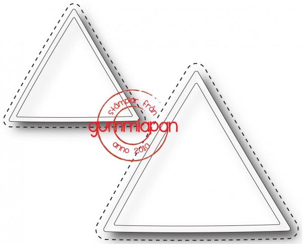 Gummiapan Stanzform Dreiecke mit Nähnaht / Triangel D170739