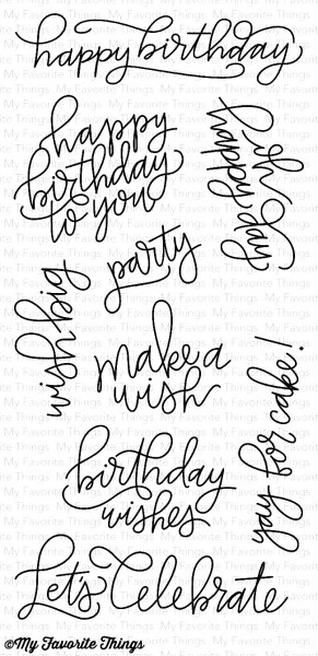 My Favorite Things Clear Stempel ' Happy Birthday ' / Handwritten Happiness CS-214