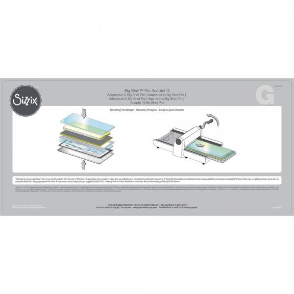 Sizzix Big Shot PRO Adapter Plate G ( für AccuQuilt Go! Stanzformen ) 661518