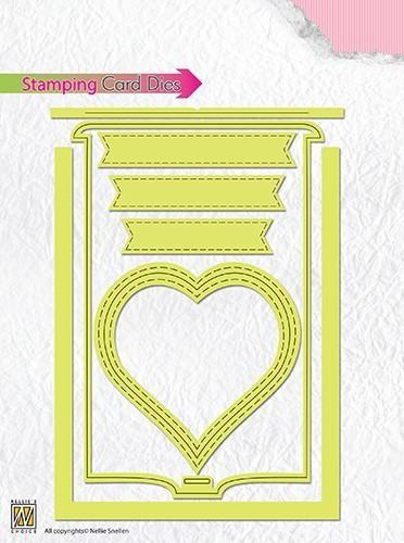 Nellies Stamping Card Stanzform Herz STCD001