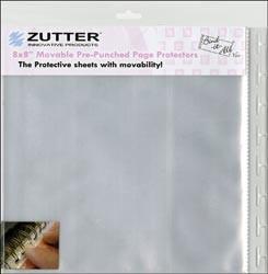 """Zutter Binditall Sichthüllen vorgestanzt flexibel 8 """" x 8 """" ( 20,3 cm x 20,3 cm ) 7603"""