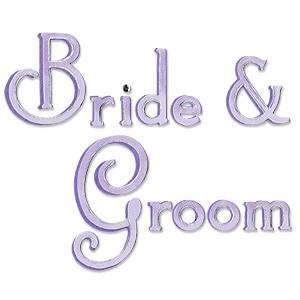Sizzix Stanzform BIGZ Worte Bride & Groom / phrase Bride & Groom 655466