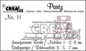 Crealies Partz Nr. 11 Löcher / Bandlöcher / Ribbonslots CLPartz11