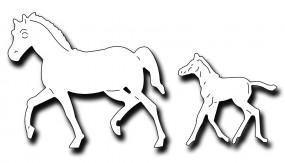 Frantic Stampers Stanzform Stute / Pferd u. Fohlen / Mare and Foal FRA-DIE-09975