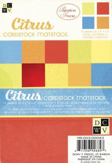 Papierblock Citrus 11,4 cm x 16,5 cm MS-003-00043