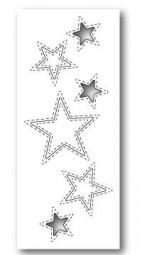 Poppystamps Stanzform Sterne gestickt / Stitched Star Cutouts 1308