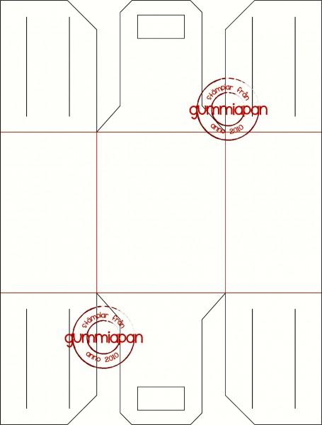 Gummiapan Stanzform Apfel-Tasche / Äppellåda D171023