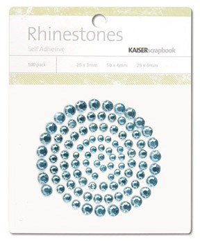Rhinestones / Glitzersteine selbstklebend EIS-BLAU SB774