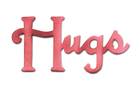 "Sizzix Stanzform Originals MEDIUM ""Hugs "" phrase hugs 656570"