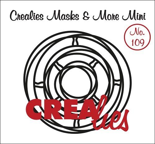 Crealies Stencil MINI Interwined Circles CLMMM109