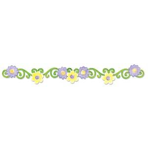Sizzix Stanzform Sizzlits Border Frühlingsblumen / flower vine spring 656123
