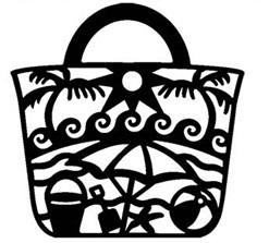 Die-Versions Stanzform Whispers Tasche/Beach Bag DVW-4x4-140
