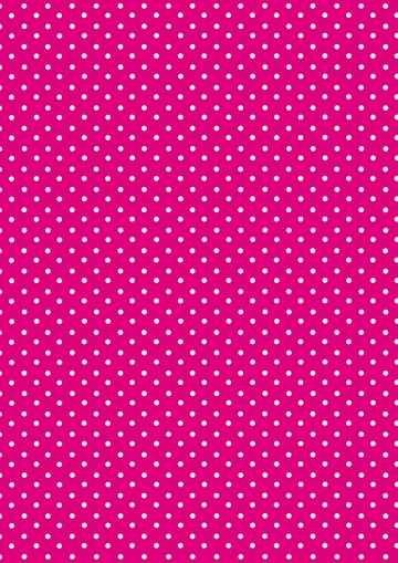 Transparent-Papier A 4 PINK mit weissen Punkten 61806