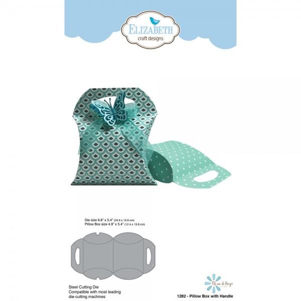 Elizabeth Craft Design Stanzform Kissenbox mit Griff / Pillow Box w/ Handle 1282