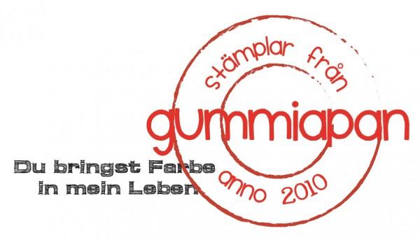 Gummiapan Stempelgummi ' Du bringst Farbe in mein Leben ' 19090217