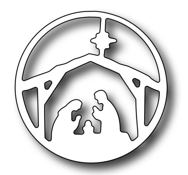 Frantic Stamper Stanzform Vignette rund Krippen-Szene / Round Vignette Nativity Insert FRA-DIE-0962