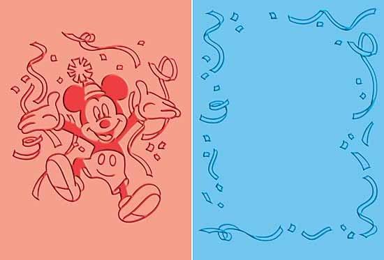 Cuttlebug DISNEY-Prägefolder GROSS 2-er Mickey Feier / Mickey Celebrates 37-1704