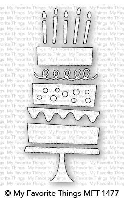Dienamics Stanzform Geburtstagstorte / Birthday Cake MFT-1477
