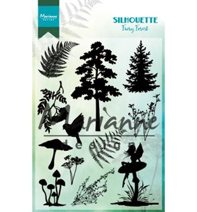 Marianne D Clear Stempel Silhouette Fairy Forest CS1013