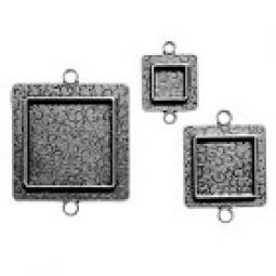 Spellbinders Schmuckanähnger SILBER Squares TWO MB2-005S (3 Stüc